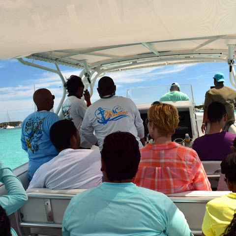 Comfortable Bahamas Boat Ride